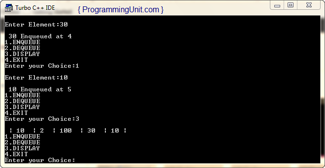 C++ program to implement circular queue ADT using an array
